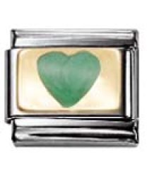 Heart with Green Glitter